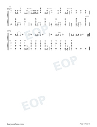 Give Your Heart A Break-Demi Lovato-Numbered-Musical-Notation-Preview-6