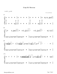 Sing-Ed Sheeran-Numbered-Musical-Notation-Preview-1