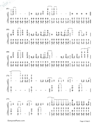 Skyscraper-Demi Lovato-Numbered-Musical-Notation-Preview-4