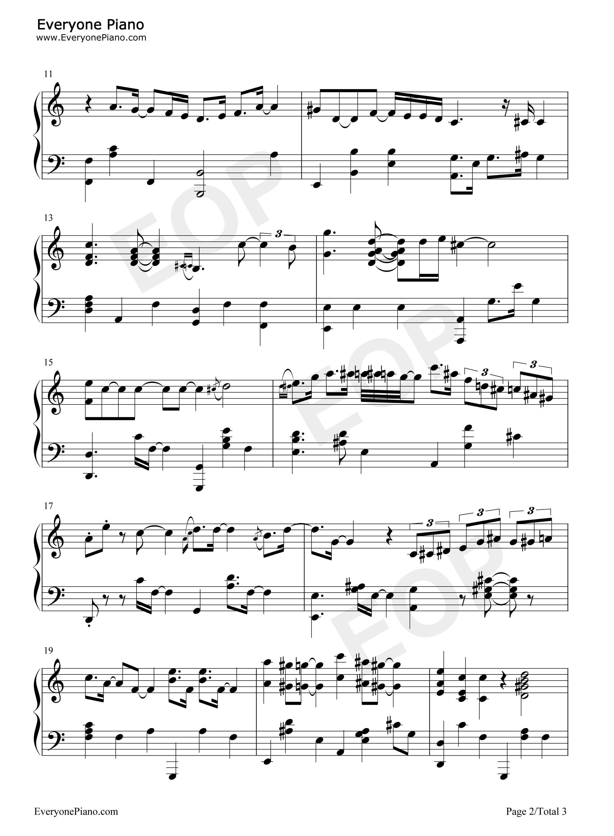 Fly me to the moon bart howard stave preview 2 free piano sheet listen now print sheet fly me to the moon bart howard stave preview 2 hexwebz Choice Image