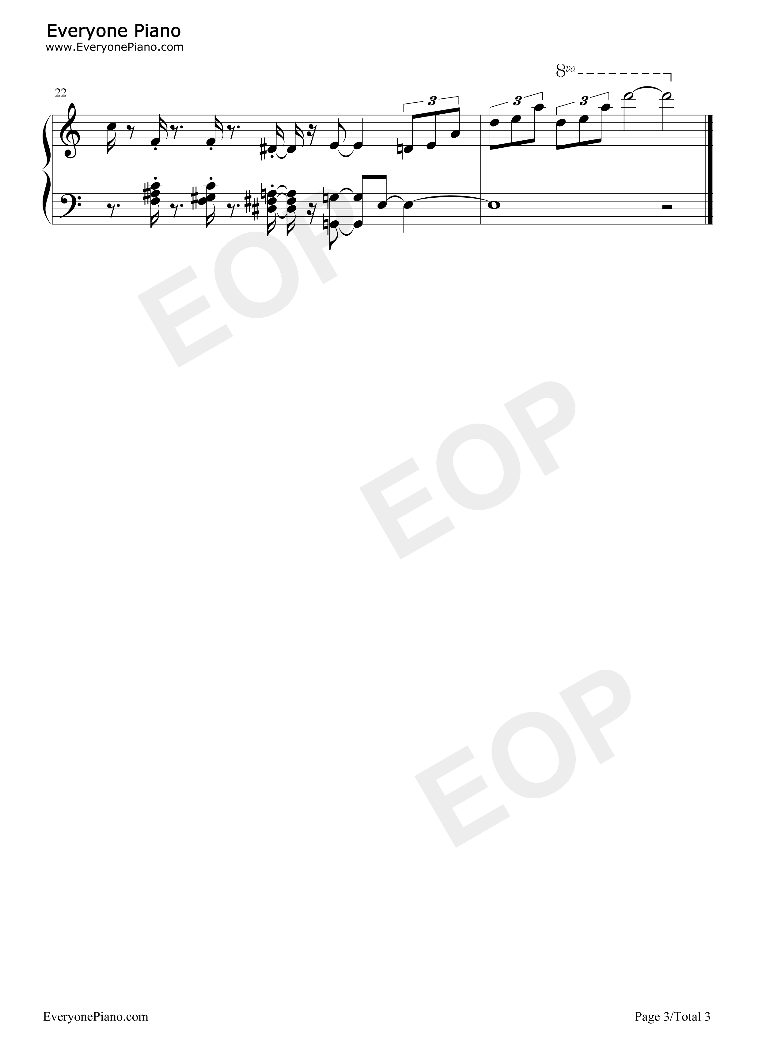 Fly me to the moon bart howard stave preview 3 free piano sheet listen now print sheet fly me to the moon bart howard stave preview 3 hexwebz Choice Image