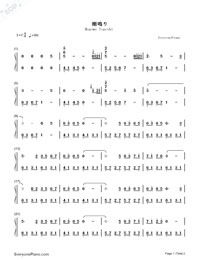 Magome Togoshi-Clannad BGM-Numbered-Musical-Notation-Preview-1