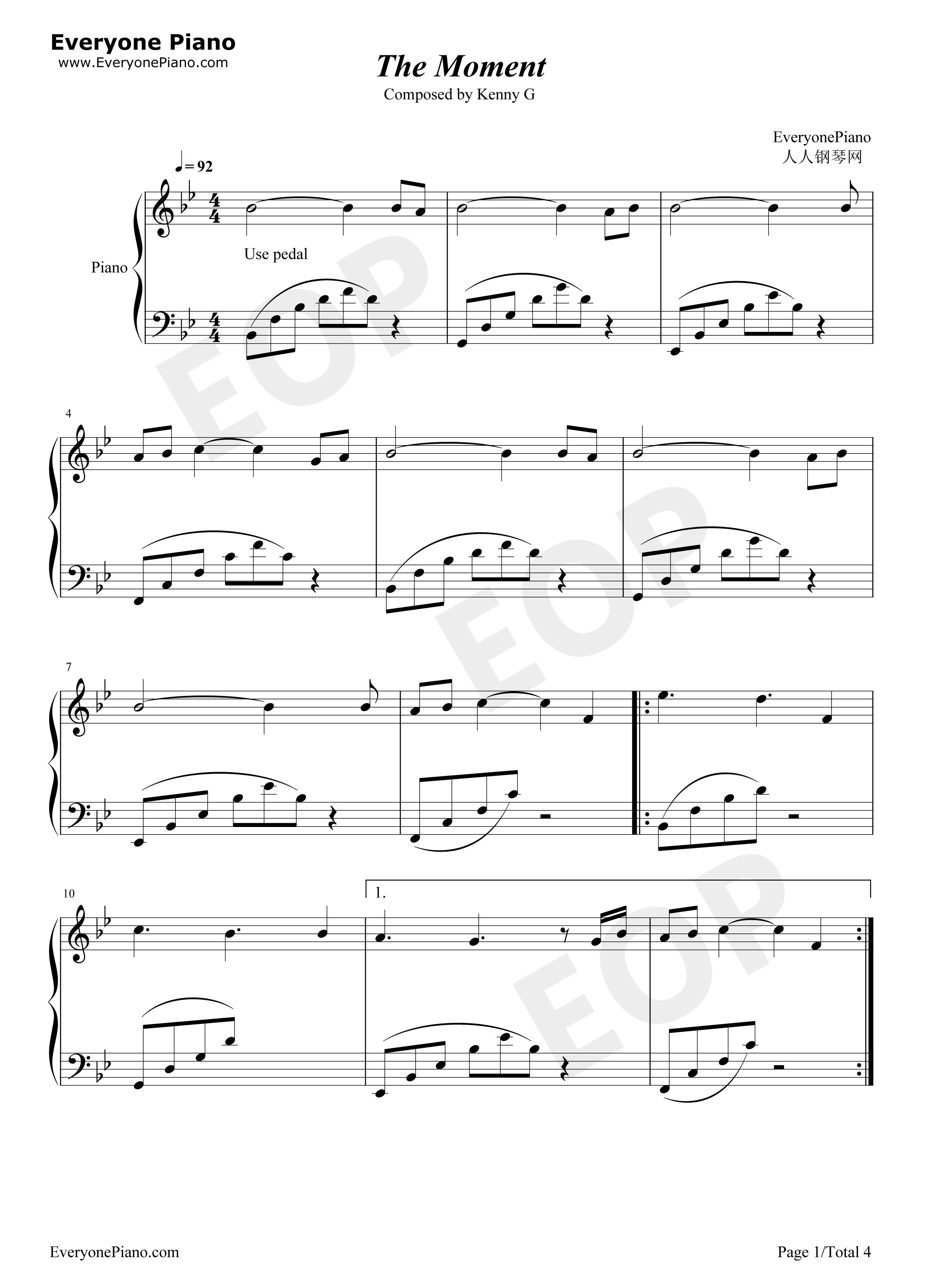 kenny g sheet music free pdf