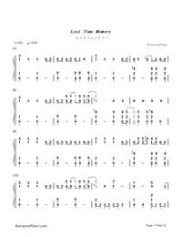 ロスタイムメモリー-IA両手略譜プレビュー1