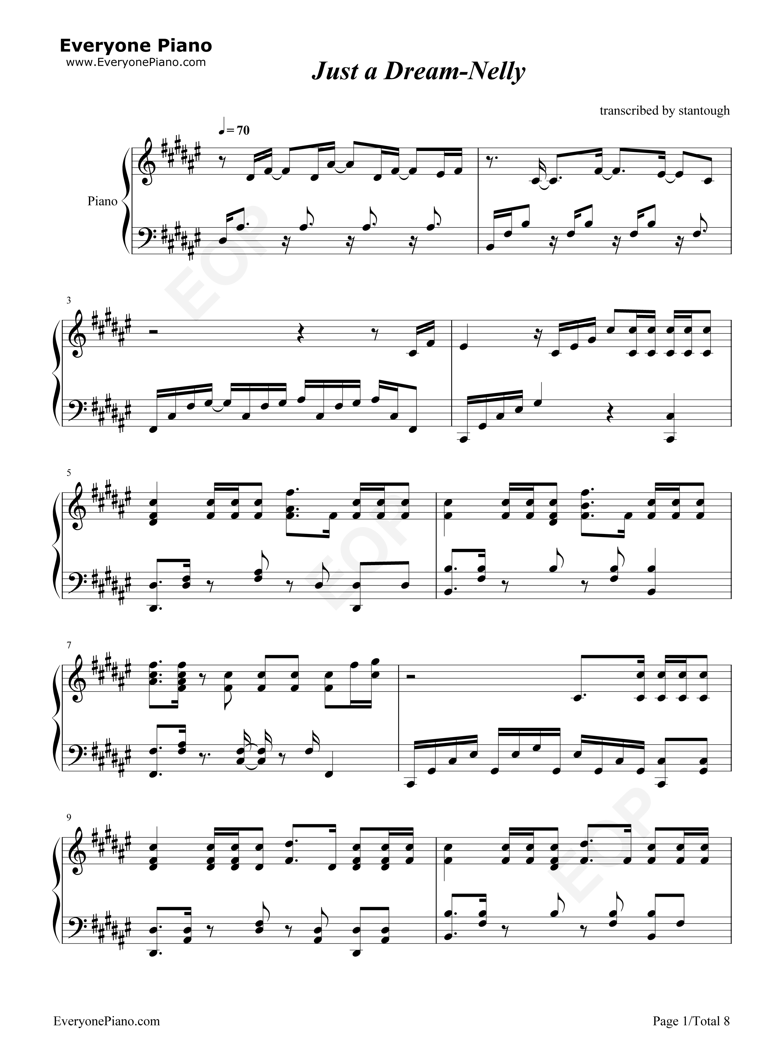 Just a dream nelly free piano sheet music piano chords just a dream nelly stave preview 1 hexwebz Image collections