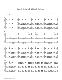 Smooth Criminal-Michael Jackson-Numbered-Musical-Notation-Preview-1