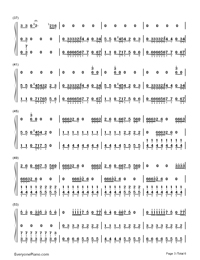 Smooth Criminal-Michael Jackson-Numbered-Musical-Notation-Preview-3