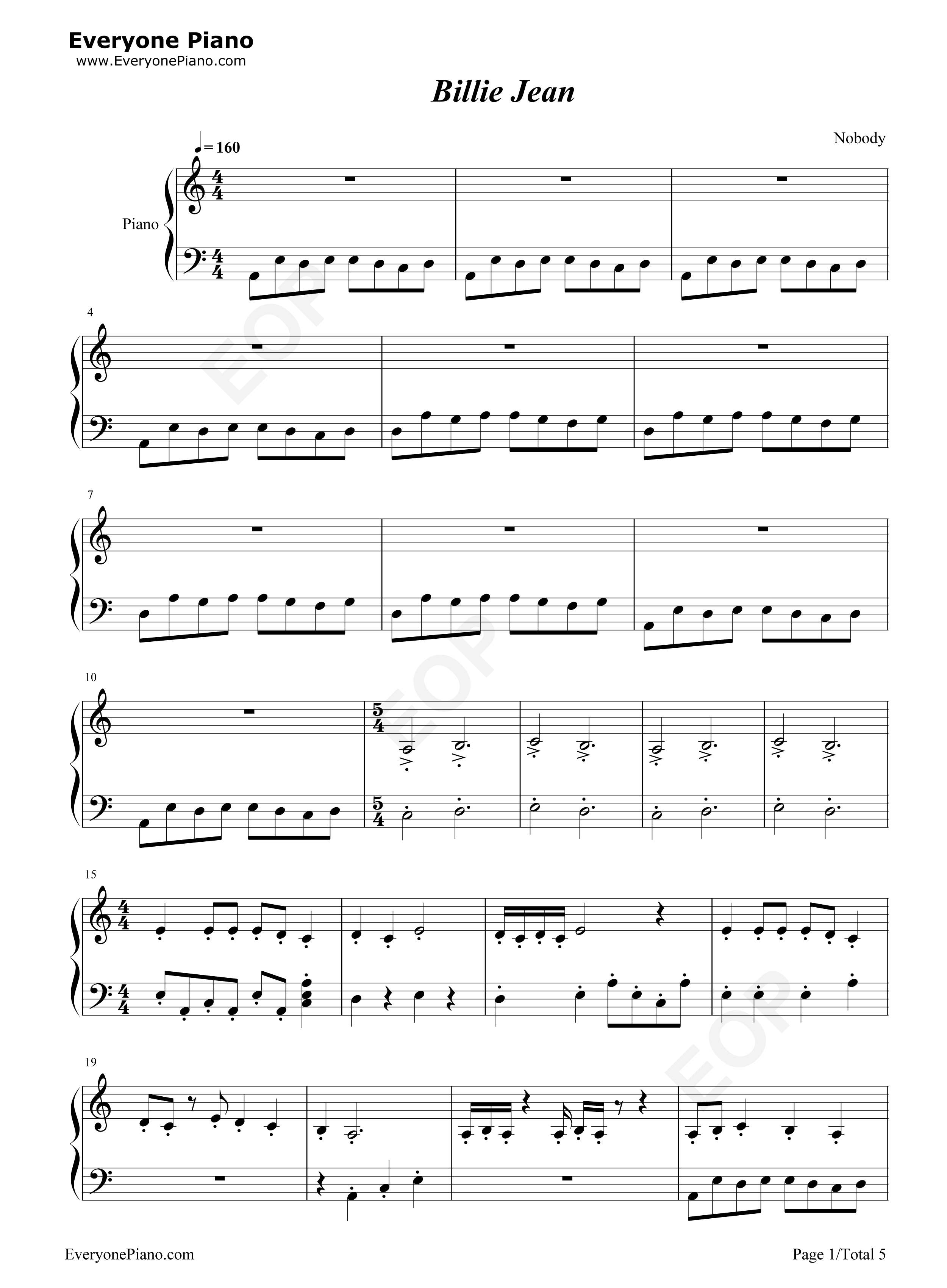 ... Michael Jackson Stave Preview 1-Free Piano Sheet Music & Piano Chords