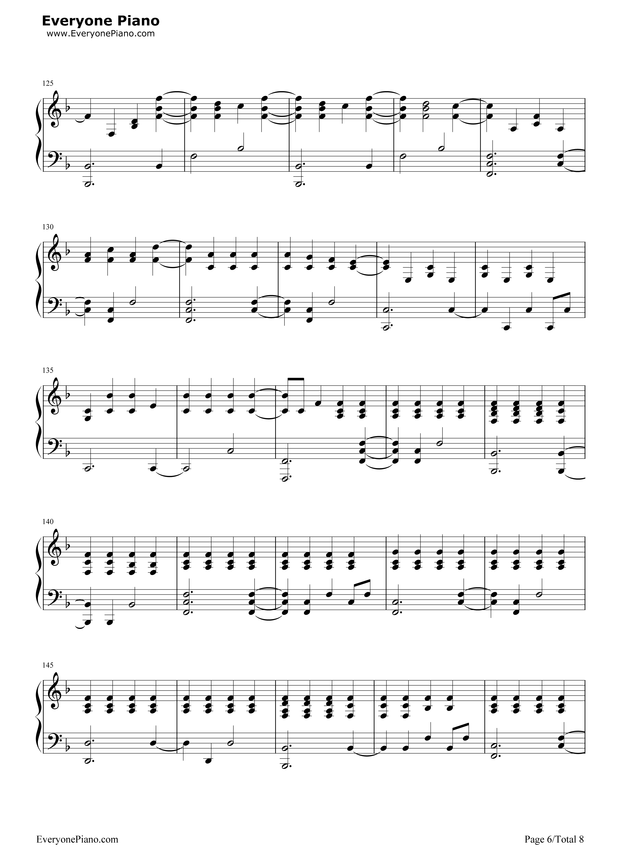 The scientist coldplay free piano sheet music piano chords the scientist coldplay stave preview 6 baditri Gallery