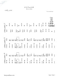 Matryoshka-Hatsune Miku & GUMI-Numbered-Musical-Notation-Preview-1