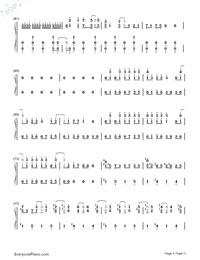 Matryoshka-Hatsune Miku & GUMI-Numbered-Musical-Notation-Preview-5