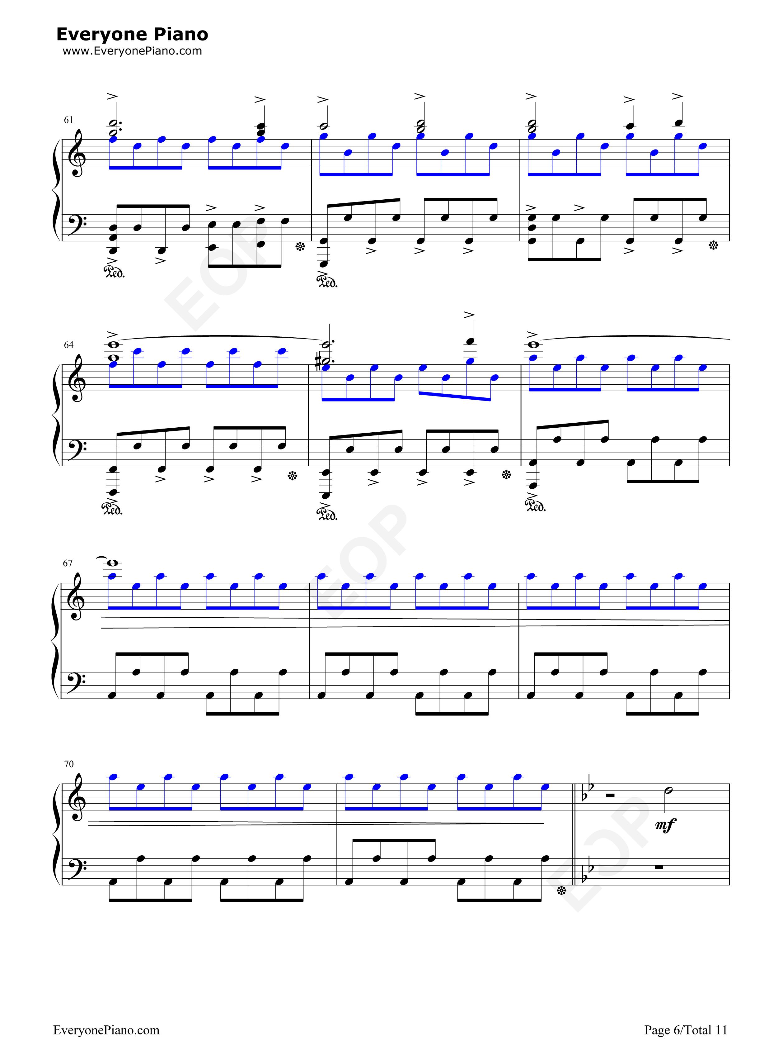 Piano sheet music legend of zelda song of storms piano sheet music