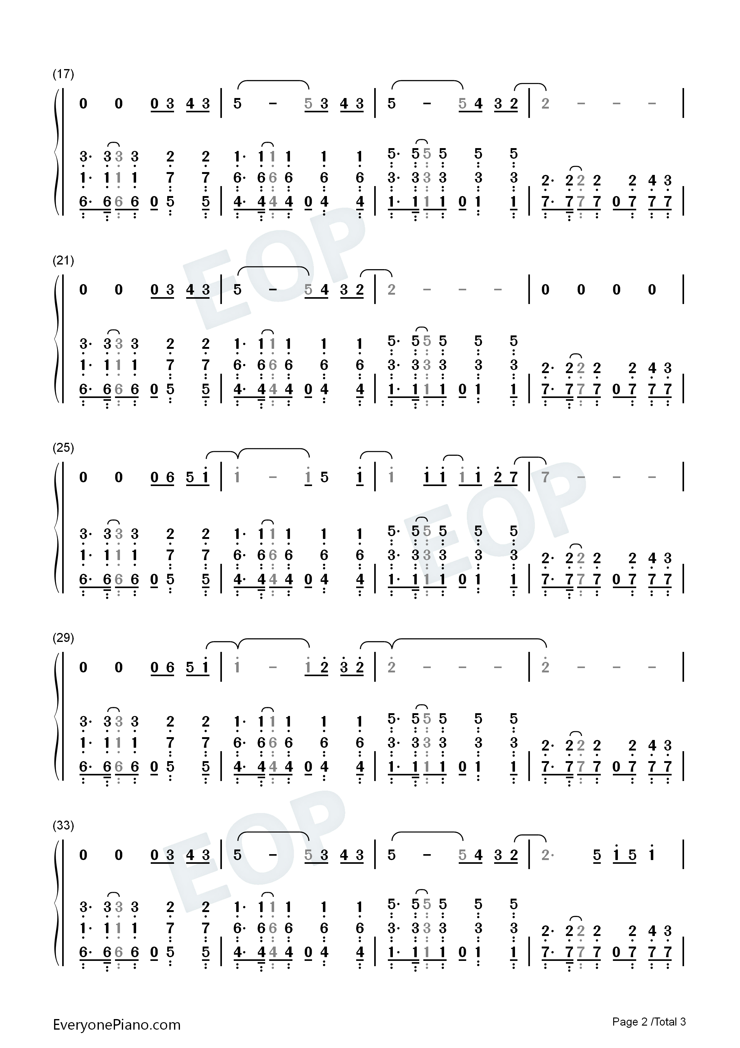 A sky full of stars coldplay numbered musical notation preview 2 listen now print sheet a sky full of stars coldplay numbered musical notation preview 2 hexwebz Gallery