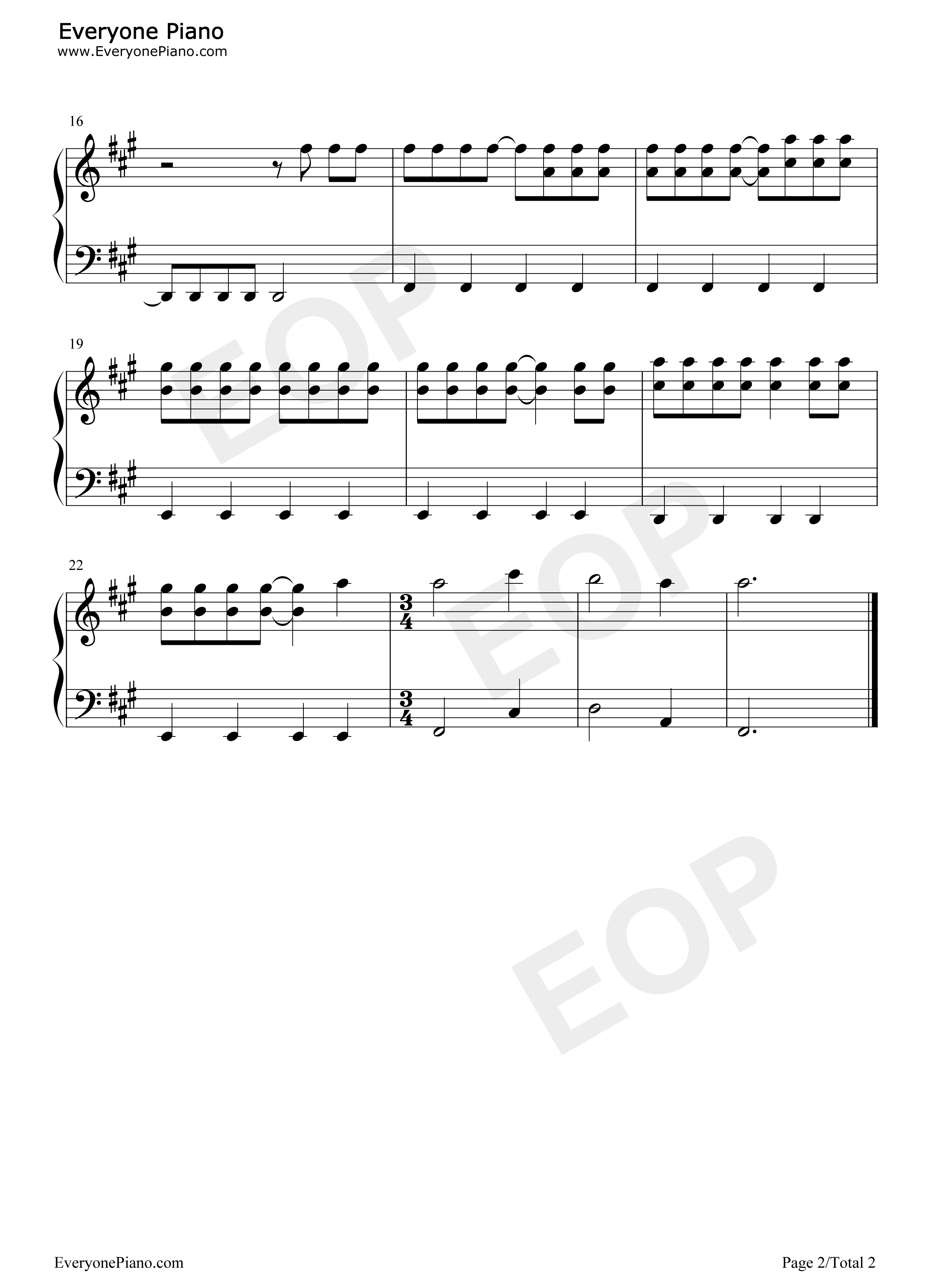 West Coast-Lana Del Rey Stave Preview 2-Free Piano Sheet Music u0026 Piano Chords