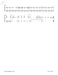 R U Crazy-Conor Maynard-Numbered-Musical-Notation-Preview-2
