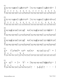 ↑Jinsei Game↓-Hatsune Miku-Numbered-Musical-Notation-Preview-2