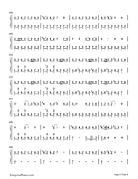 ↑Jinsei Game↓-Hatsune Miku-Numbered-Musical-Notation-Preview-3