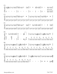 ↑Jinsei Game↓-Hatsune Miku-Numbered-Musical-Notation-Preview-4