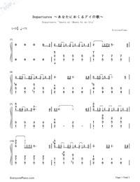 Departures 〜あなたにおくるアイの歌〜-ギルティクラウンED1両手略譜プレビュー1