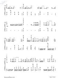 Departures 〜あなたにおくるアイの歌〜-ギルティクラウンED1両手略譜プレビュー2
