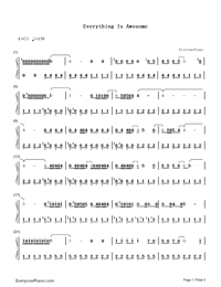 Everything Is Awesome Tegan And Sara Free Piano Sheet Music Piano Chords