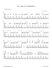 Love Runs Out-OneRepublic-Numbered-Musical-Notation-Preview-1