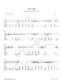 The Climb-Hannah Montana: The Movie OST-Numbered-Musical-Notation-Preview-1