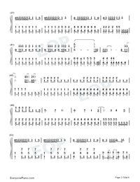 The Climb-Hannah Montana: The Movie OST-Numbered-Musical-Notation-Preview-3