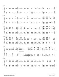 Nijishoku Chouchou-Hatsune Miku-Numbered-Musical-Notation-Preview-2