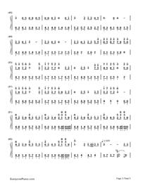 Nijishoku Chouchou-Hatsune Miku-Numbered-Musical-Notation-Preview-3