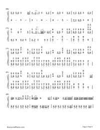 Nijishoku Chouchou-Hatsune Miku-Numbered-Musical-Notation-Preview-4