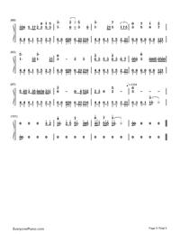 Nijishoku Chouchou-Hatsune Miku-Numbered-Musical-Notation-Preview-5