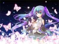 虹色蝶々-初音ミク