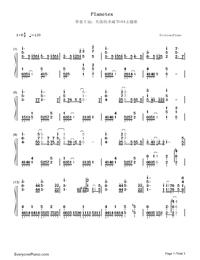 Planetes-ギルティクラウン ロストクリスマスOVA主題歌両手略譜プレビュー1