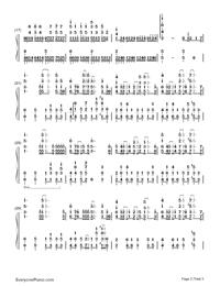 Planetes-ギルティクラウン ロストクリスマスOVA主題歌両手略譜プレビュー2
