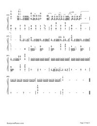 Planetes-ギルティクラウン ロストクリスマスOVA主題歌両手略譜プレビュー3
