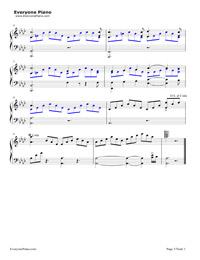 Liebestraum-Dreams of Love-Franz Liszt Stave Preview 3