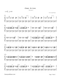 Crazy in Love-Beyoncé-Numbered-Musical-Notation-Preview-1
