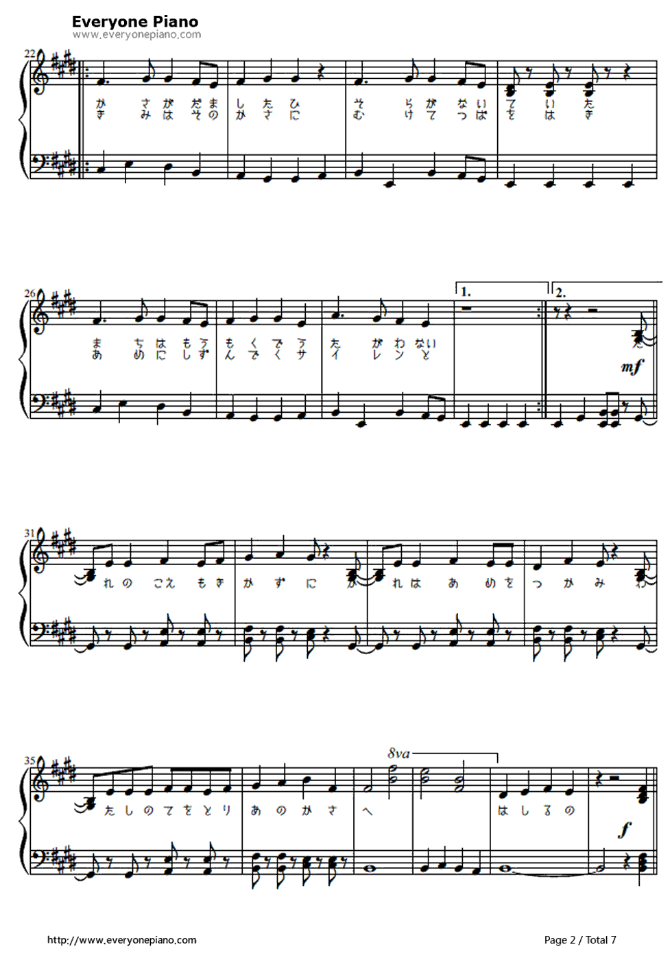 Umbrella chords worlds end umbrella hatsune miku stave preview 2 free piano sheet hexwebz Images