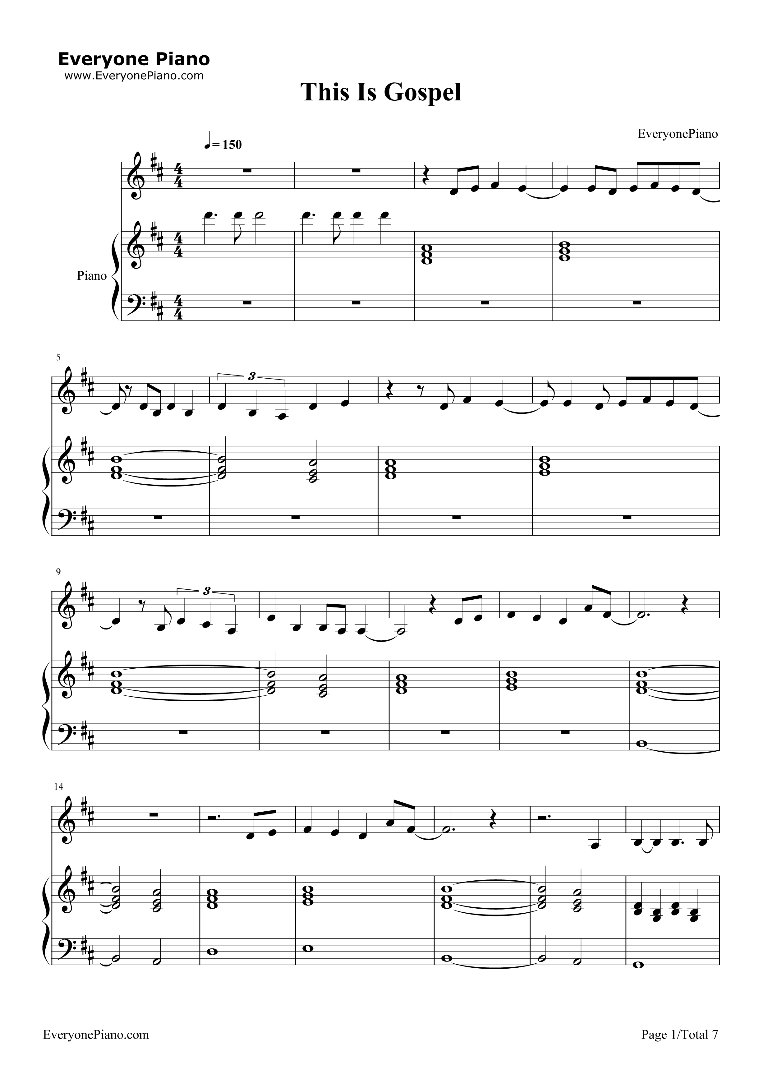 It is a picture of Gargantuan Free Printable Gospel Sheet Music for Piano