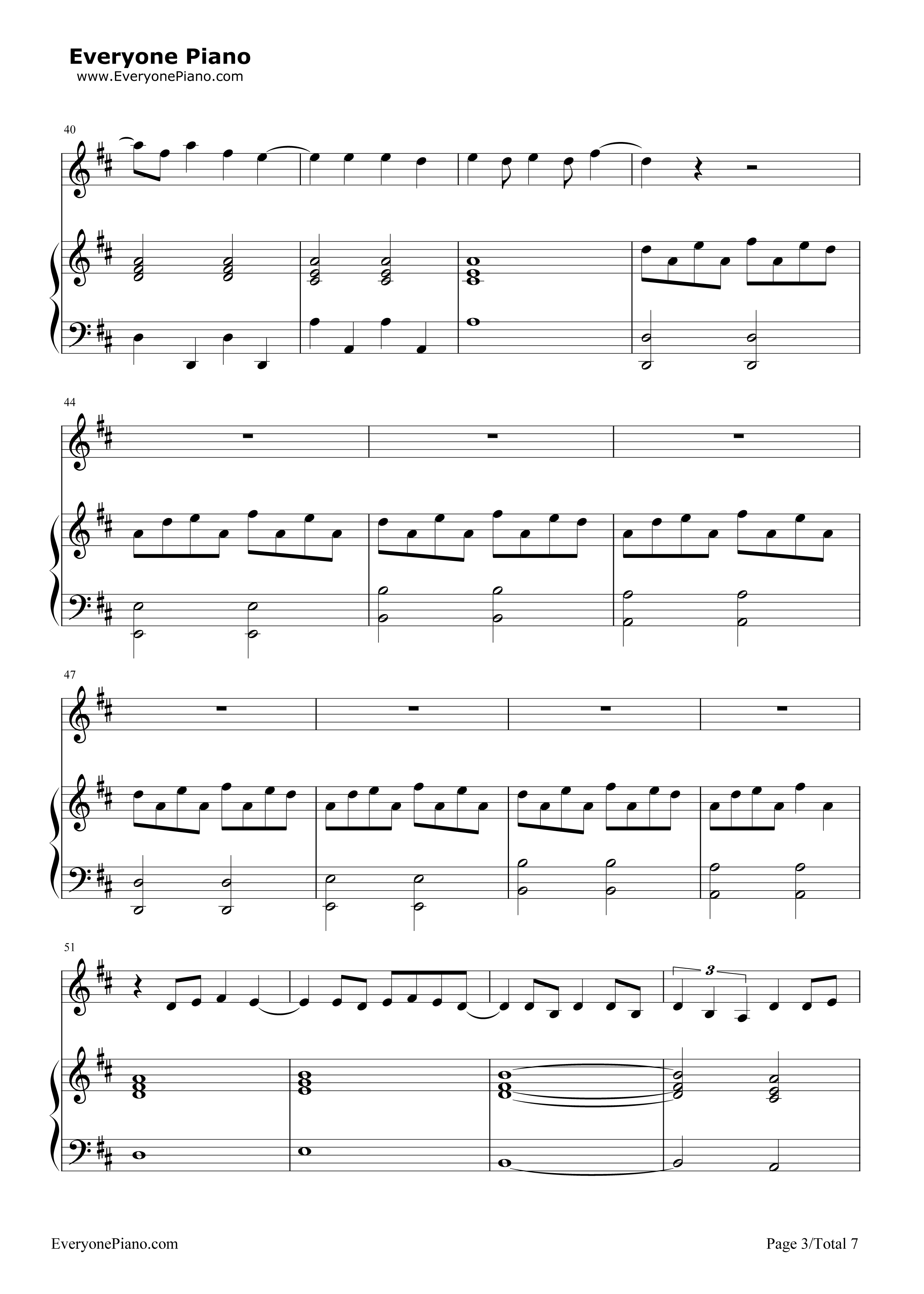 At the disco stave preview 3 free piano sheet music amp piano chords