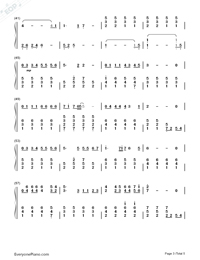 Tabidachi no Hi ni-On The Day of Departure-Numbered-Musical-Notation-Preview-3