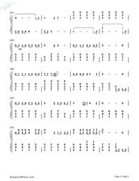 旅立ちの日に-合唱曲両手略譜プレビュー3