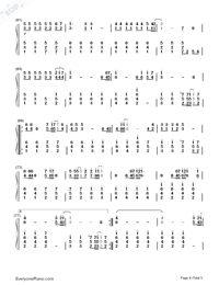 Tabidachi no Hi ni-On The Day of Departure-Numbered-Musical-Notation-Preview-4
