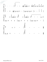 Tabidachi no Hi ni-On The Day of Departure-Numbered-Musical-Notation-Preview-5
