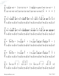 Waka Waka-Shakira-Numbered-Musical-Notation-Preview-2