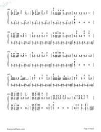 Waka Waka-Shakira-Numbered-Musical-Notation-Preview-3