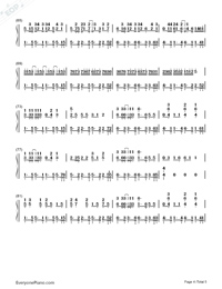 Waka Waka-Shakira Numbered Musical Notation Preview 4