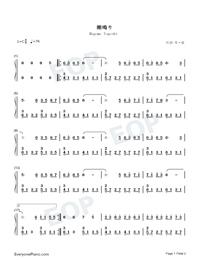 潮鳴り-CLANNAD BGM両手略譜プレビュー1