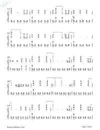 時を刻む唄-CLANNAD 〜AFTER STORY〜OP両手略譜プレビュー2